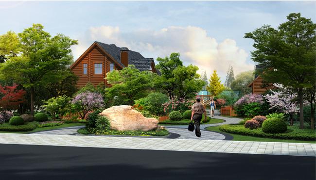 2016别墅园林设计效果图图片